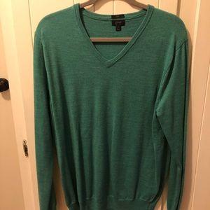 JCrew Merino Wool V Neck Sweater Slim Fit